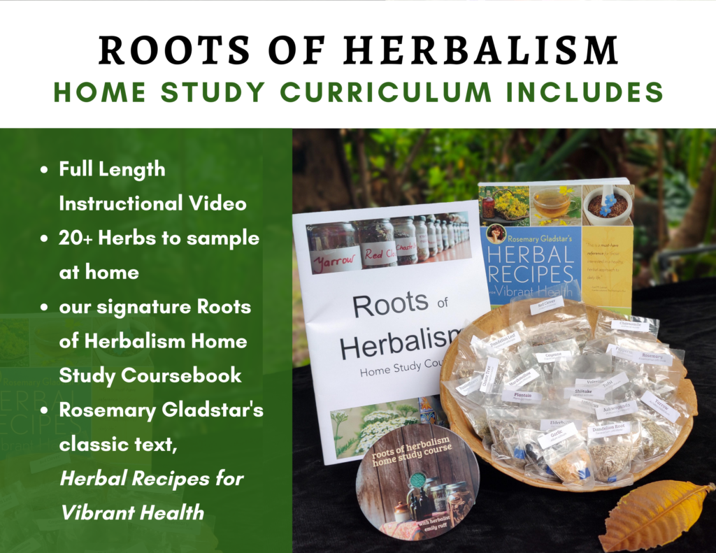 Roots of Herbalism Home Study Course Curriculum includes: