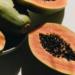 Ripe Papaya cut in half